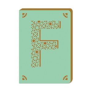 Blocnotes cu monogramă A6 Portico Designs F, 160 pag.