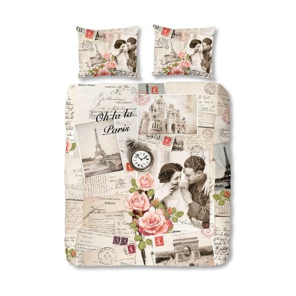 Lenjerie de pat din bumbac Muller Textiels Paris D'Amour, 240 x 200 cm