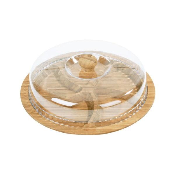 Półmisek bambusowy z kloszem Siglitiki, ø 30 cm