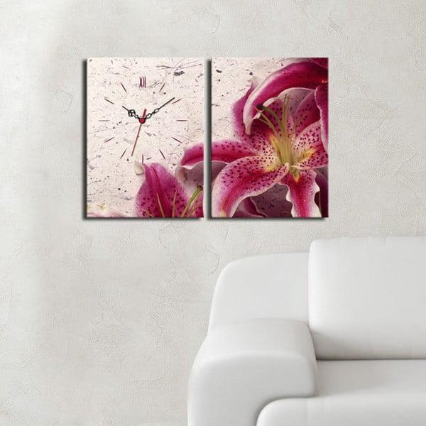Obrazové hodiny Orchidej