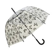 Transparentní holový deštník Birdcage Butterflies, ⌀83cm