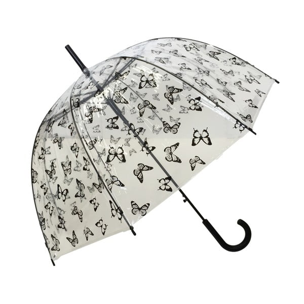Transparentný dáždnik Ambiance Birdcage Butterflies, ⌀83 cm