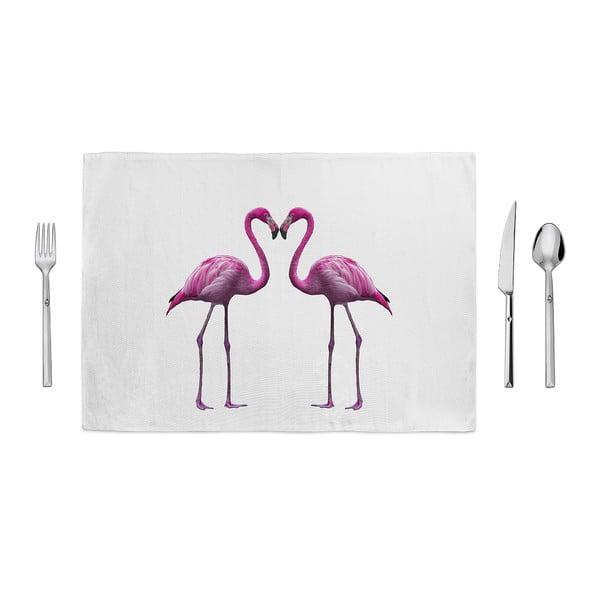 Růžovobílé prostírání Home de Bleu In Love, 35x49cm