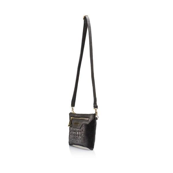 Černá kožená kabelka Lisa Minardi Eleuterio
