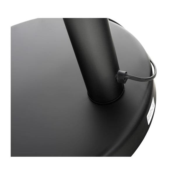 Černá stojací lampa s mramorovou základnou Kokoon Bush