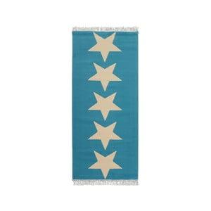 Modrý koberec Hanse Home Stars, 80 x 200 cm