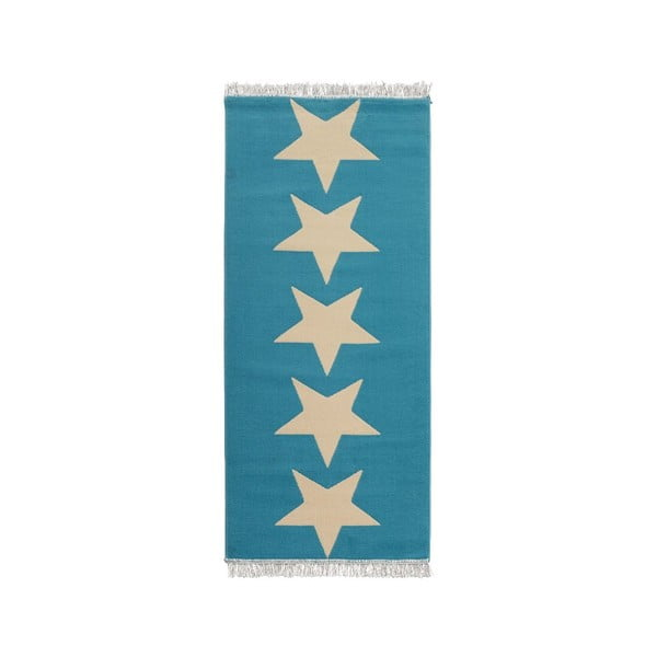 Modrý koberec Hanse Home Stars, 80x200cm