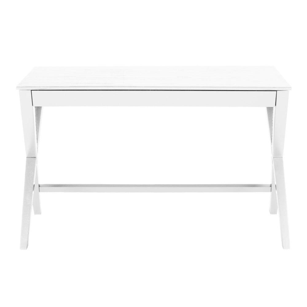 Bílý psací stůl se zásuvkou Actona Writex Actona