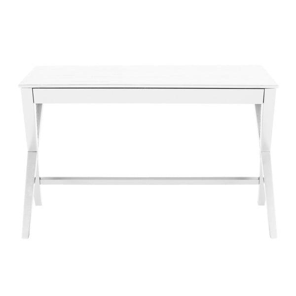 Białe biurko z szufladą Actona Writex