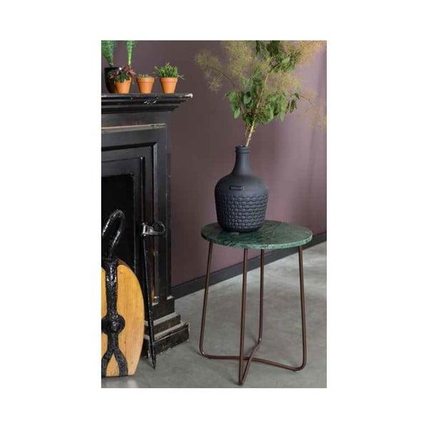 Zelený mramorový odkládací stolek Dutchbones, ⌀ 41 cm