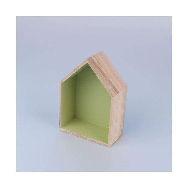 Závěsná polička Domeček 12x17 cm, zelená
