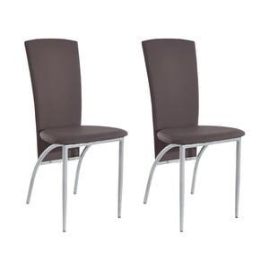 Sada 2 hnědých  jídelních židlí Støraa Nevada