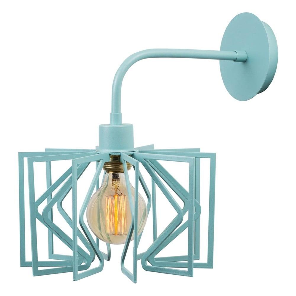 Bledě modrá nástěnná lampa Radius Drop