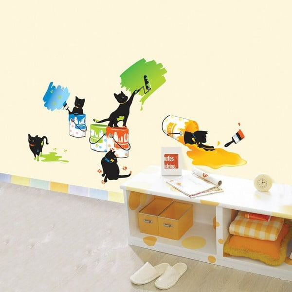 Autocolant Ambiance Cats and Paints