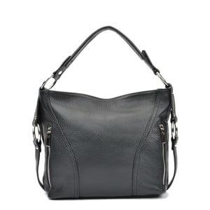 Černá kožená kabelka Carla Ferreri Bethany