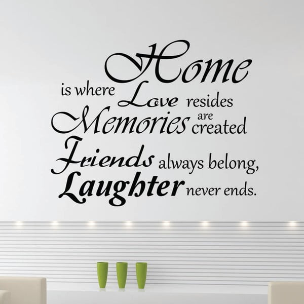 Samolepka Ambiance Home, Love And Laughter