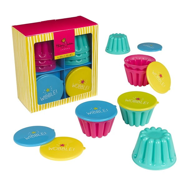 Set 6 forme Happy Jackson Jelly Mould