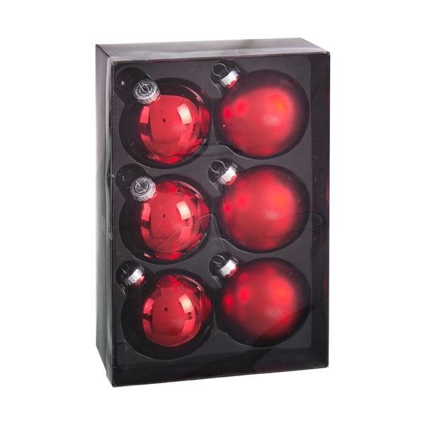 Set 6 decorațiuni de Crăciun Unimasa Brightness, roșu
