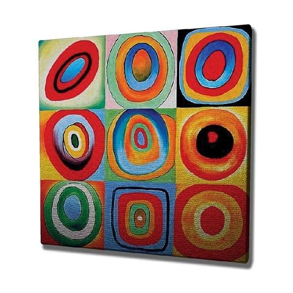 Reproducere tablou pe pânză Kandinsky , 45 x 45 cm