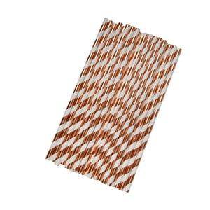 Sada 25 papírových brček Neviti Geo Blush