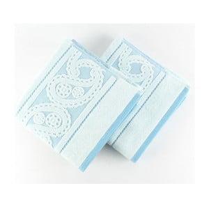 Sada 2 modrých ručníků Hurrem, 50x90 cm