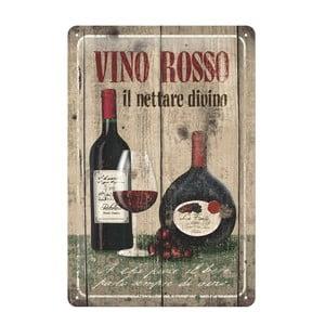 Plechová cedule Vino rosso, 20x30 cm
