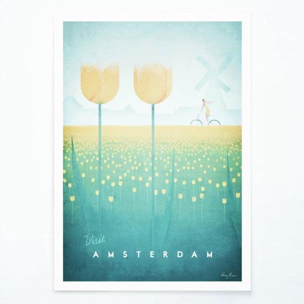Plakát Travelposter Amsterdam, A3