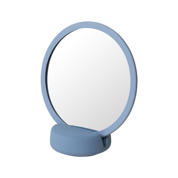 Modré stolní kosmetické zrcadlo Blomus, výška18,5cm