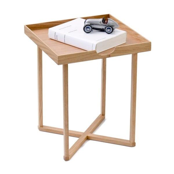 Odkladací stolík z dubového dreva Wireworks Damieh, 37x45cm