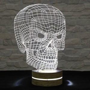 3D stolní lampa Bad Skull
