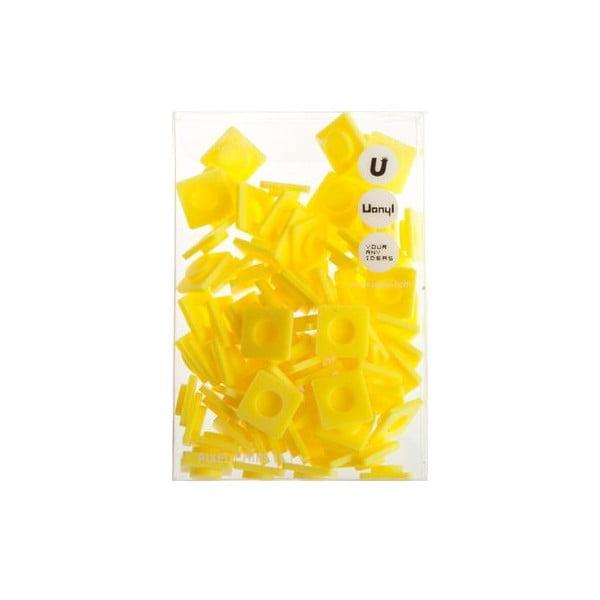 Sada 80 velkých pixelů, banana yellow