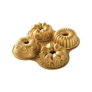 Forma na 4 mini bábovek ve zlaté barvě Nordic Ware Minimix, 2,1 l