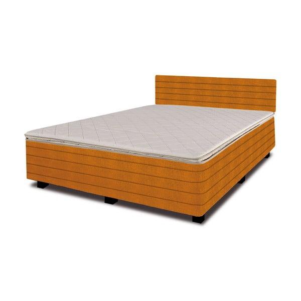 Postel s matrací New Star Orange, 160x200 cm
