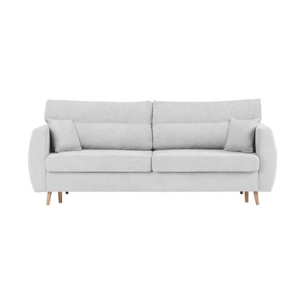 Canapea extensibilă cu 3 locuri și spațiu pentru depozitare Cosmopolitan design Sydney, 231x98x95cm, argintiu