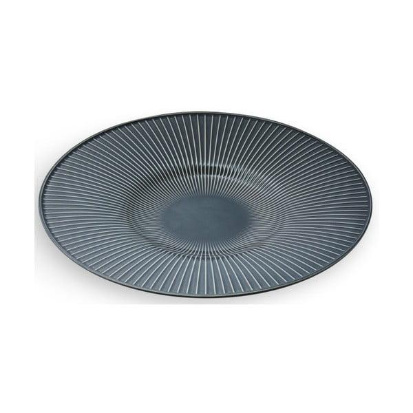 Antracitový porcelánový talíř Kähler Design Hammershoi Dish, ⌀ 40 cm