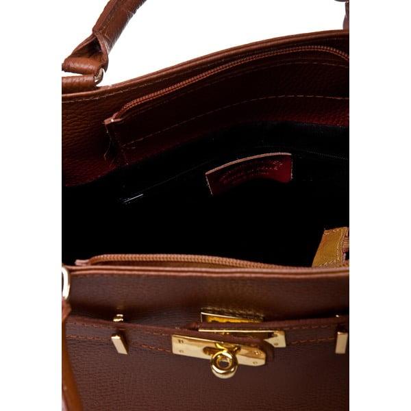 Geantă din piele Massimo Castelli Petronella Cognac, maro coniac