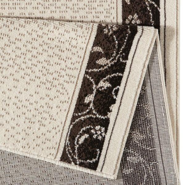 Krémový běhoun s hnědými detaily Hanse Home Elegance, 80x300 cm