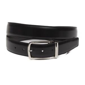 Černý pánský kožený pásek GF Ferre Felix, délka 135 cm
