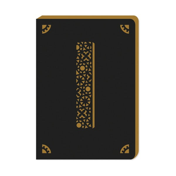 Linkovaný zápisník A6 s monogramem Portico Designs I, 160stránek