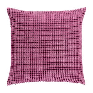 Pernă cu nervuri și umplutură 45x45cm,roz