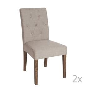 Sada 2 hnědých jídelních židlí Louis