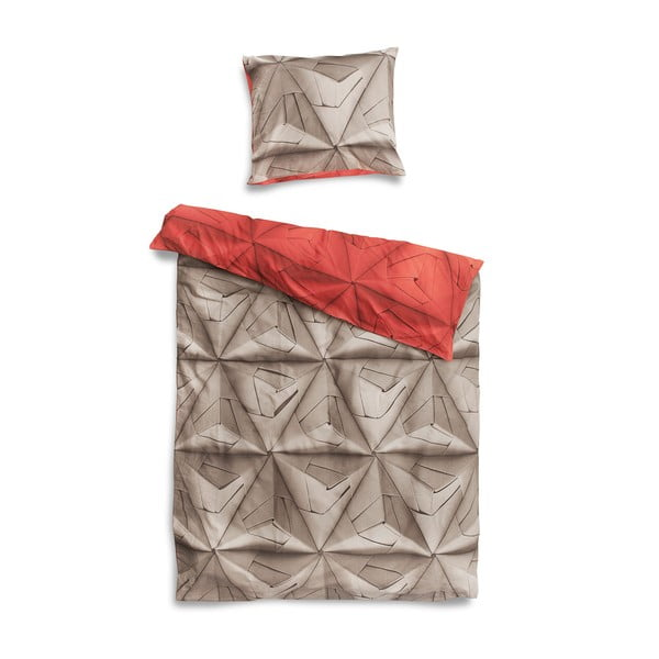 Lenjerie de pat Snurk Monogami Red, 140x200cm