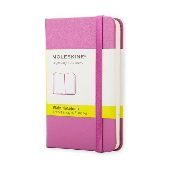 Růžový minizápisník Moleskine, nelinkovaný
