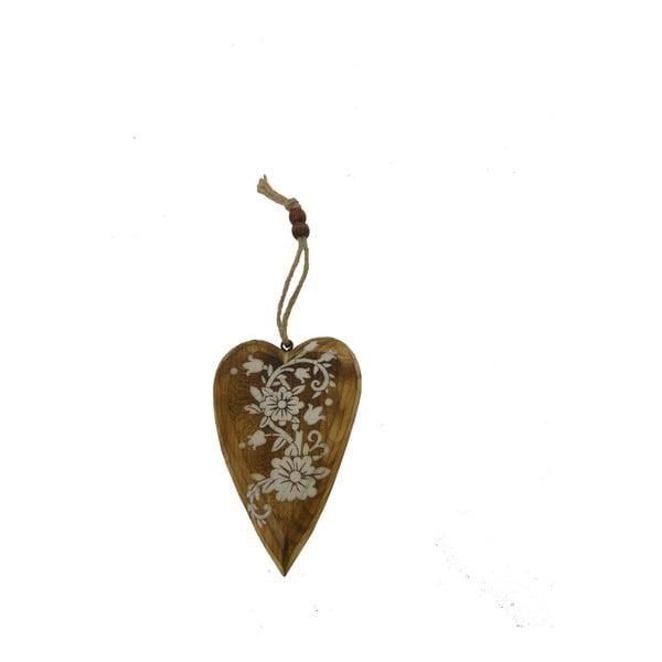 Závesná dekorácia v tvare srdca Antic Line White