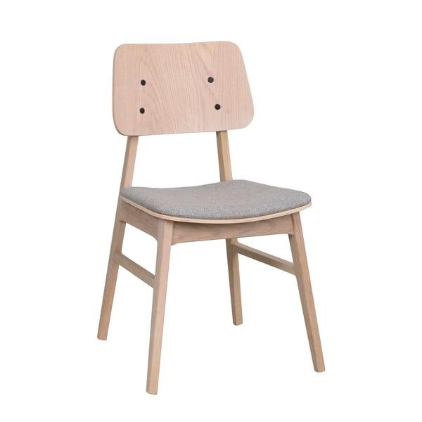 Světle hnědá jídelní židle se světle šedým podsedákem Rowico Nagano