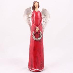 Červený anděl s věncem Dakls