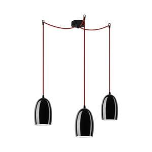 Trojité světlo UME Elementary, black glossy/red/black