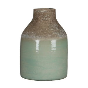 Zelená váza Mica Belinda, 25x17cm