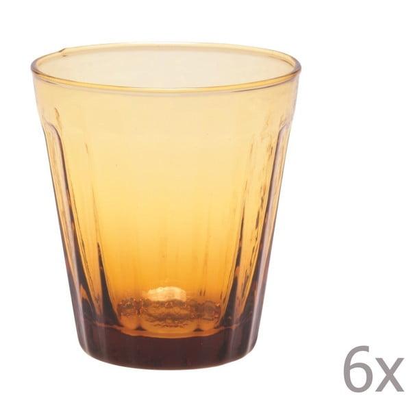 Sada 6 sklenic na víno Lucca Honey, 180 ml