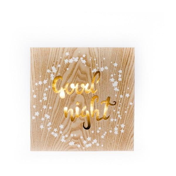Good Night felfüggeszthető fából készült világító dekoráció - Dakls